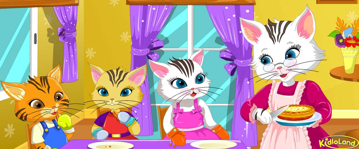 Three Little Kittens Nursery Rhymes App For Kids Android Iphone And Ipad